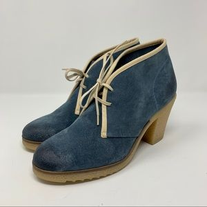 Anthropologie Jasper & Jeera Blue Suede Booties